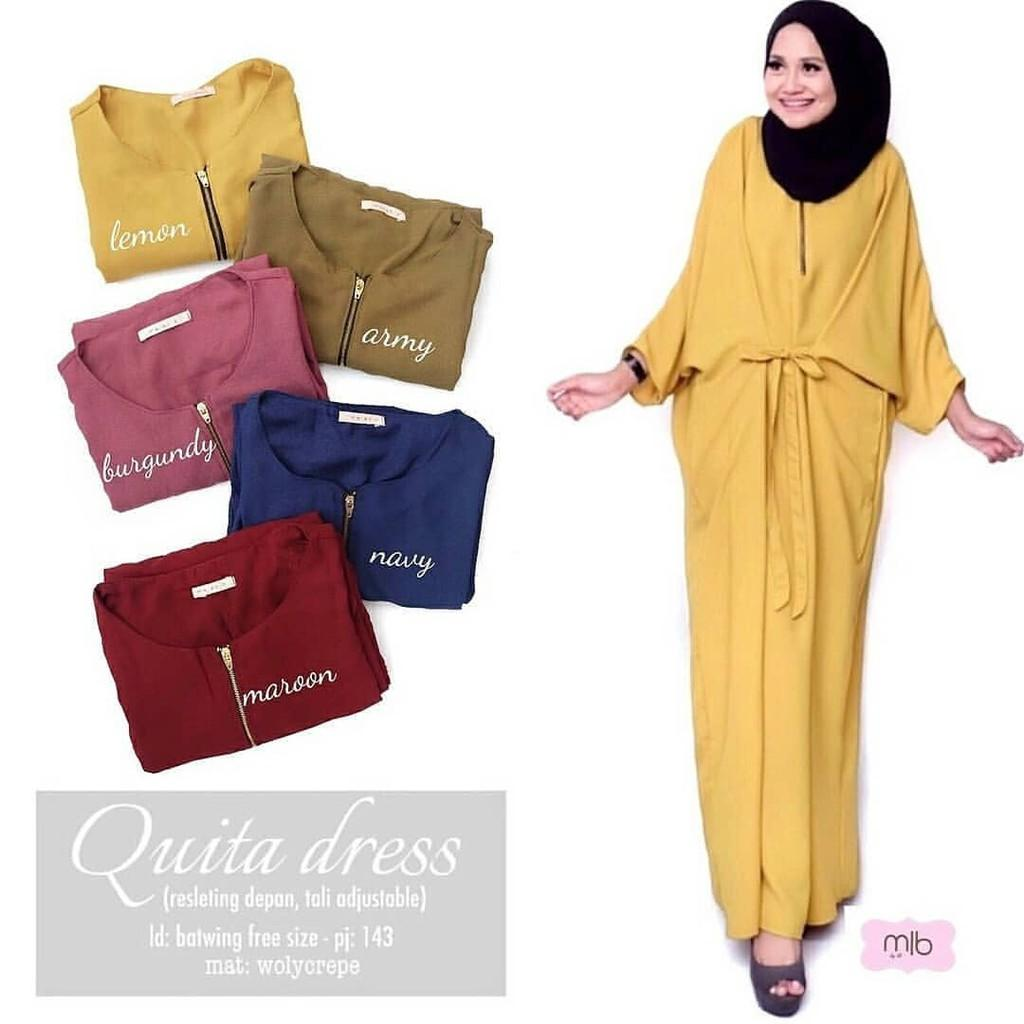 JAKARTA GROSIR -  quita dress wd.f Fashion Dress / Atasan / Tunik / size M, L dan XL