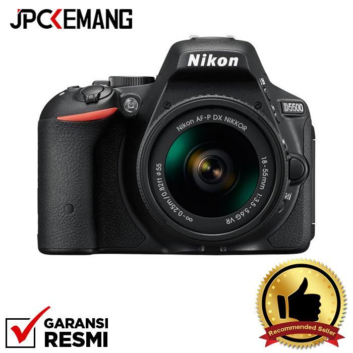 Nikon D5500 Kit with AF-P DX Nikkor 18-55mm F/3.5-5.6G VR jpckemang GARANSI RESMI