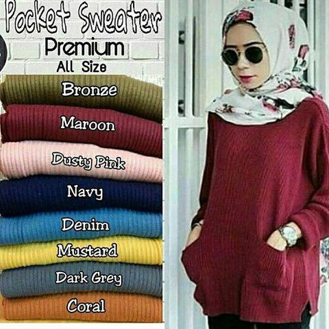 Pocky Sweater   Baju Rajut   Kaos Rajut   Baju Rajut Panjang   Baju Rajut  Halus bced599920