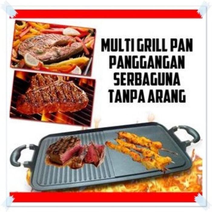 Queen Mall - Alat Pangang Teflon Anti Lengket/Multi Grill Pan