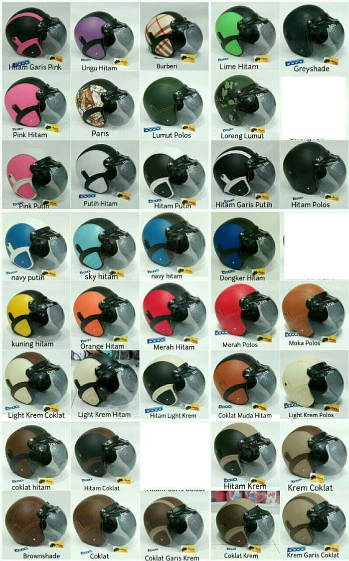 Helm Retro Kaca Bogo Classic Vespa Murah || helm kyt / helm bogo / helm full face / helm ink / helm sepeda /helm motor/helm nhk/helm retro/helm anak/helm gm