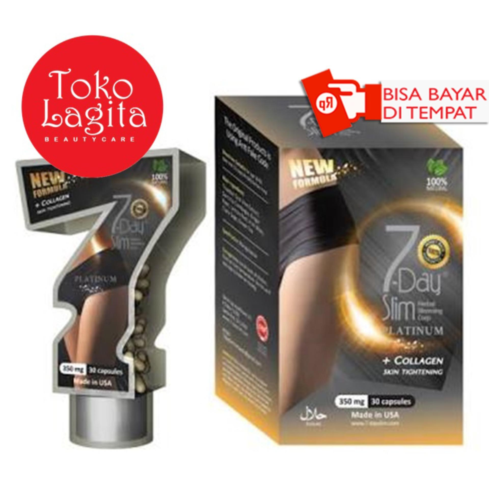 7 Day Slim Platinum New Formula + Collagen Suplemen Pelangsing Badan  Original da2e80605e