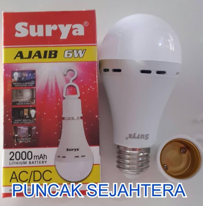 Lampu Led Emergency Surya Ajaib 6W 6 Watt, Tetap Nyala