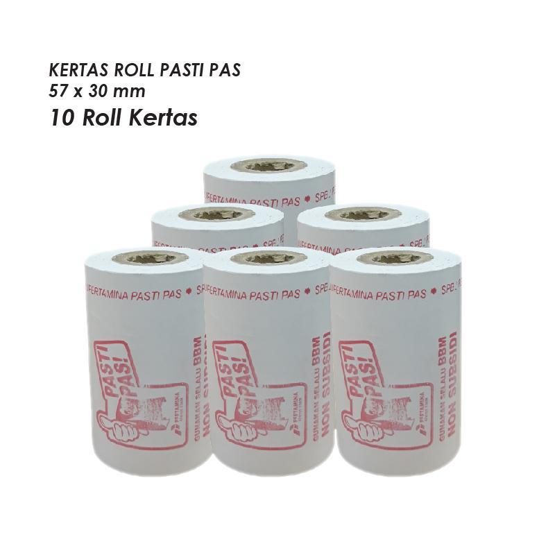 Kertas Thermal Struk Bensin Uk 57x30mm (per 10 Roll) By Toserba.digital.