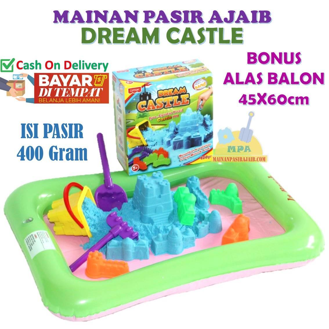Mainan Bentuk Warna Terbaik Balon Pasir Ajaib Magic Sand Dream Castle Lengkap Dengan Alas