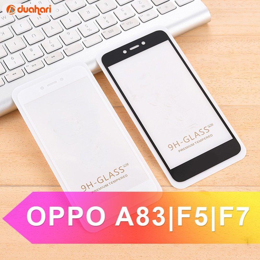 Tempered Glass Oppo A83 Full Cover Anti Gores Kaca Screen Protector Screen Guard Pelindung Layar