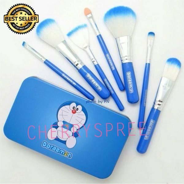 Doraemon Make Up Soft Brush Set 7 IN 1 Paket Set Kuas Make Up Doraemon Bulu