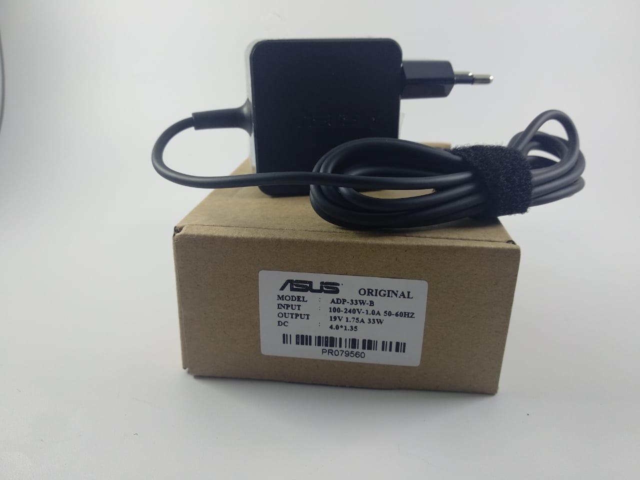 ASUS ORI Adaptor Charger Laptop ASUS 19V 1.75A dc 4.0*1.35mm PETAK KOTAK ADP-40MH 33W/ Asus VivoBook X200 X200CA X201 X202E S200 S200E X201E F201E X202E Q200E S200 S220 X200T Series