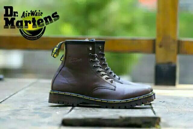 Sepatu dr.marten dokmar tinggi 8 lubang sepatu boots pria casual sepatu  kerja proyek murah 2c0767fc30