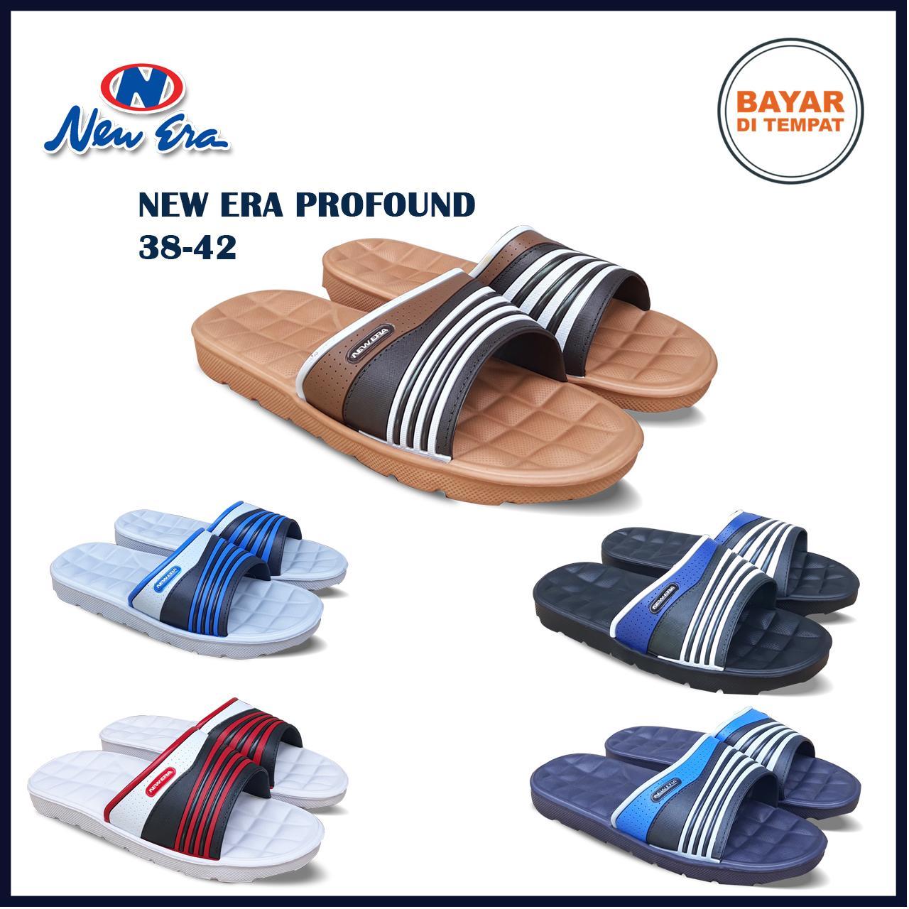 Amelia Olshop - Sandal New Era Profound 38-42 / Sandal karet /sandal santai / fashion pria / sandal / sandal flat / sendal / sendal pria