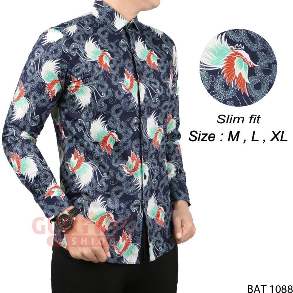 Gudang Fashion - Batik Modern Slim Fit Panjang Pria