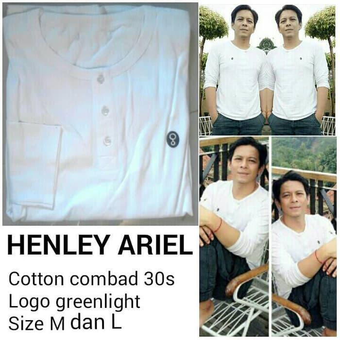 Henley Ariel Noah Putih T-shirt GRLT Ariel / Kaos Baju Greenlight - gRR5Uw
