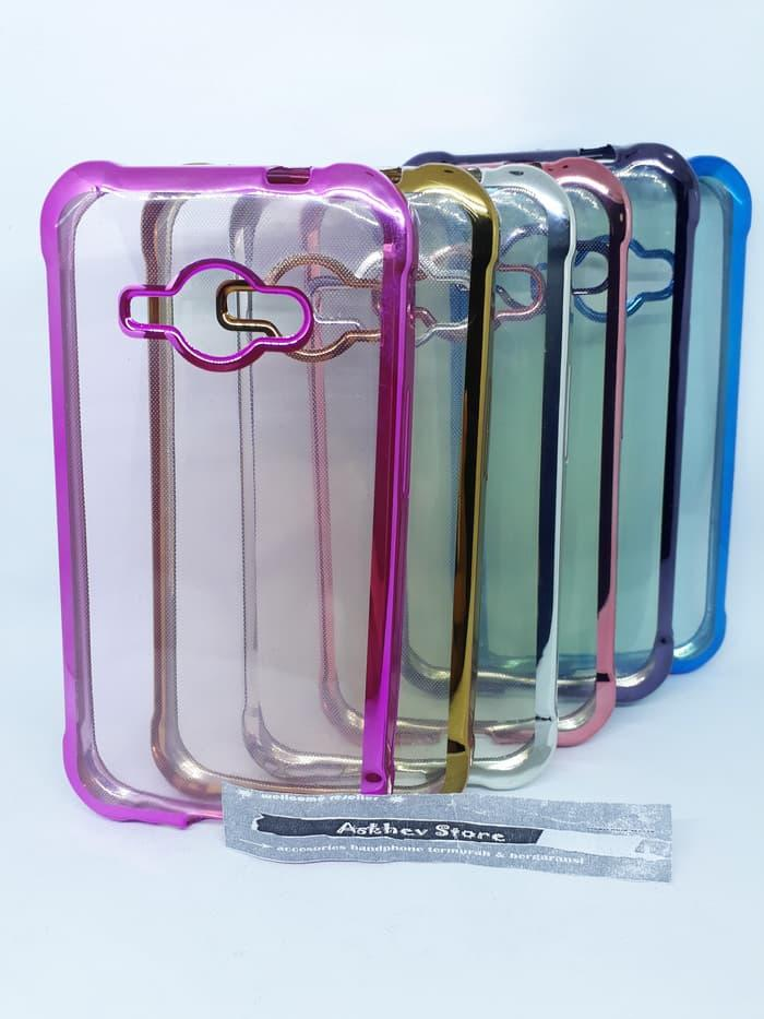 Case List Shinning Chrome Samsung J1 Ace softcase soft Tpu