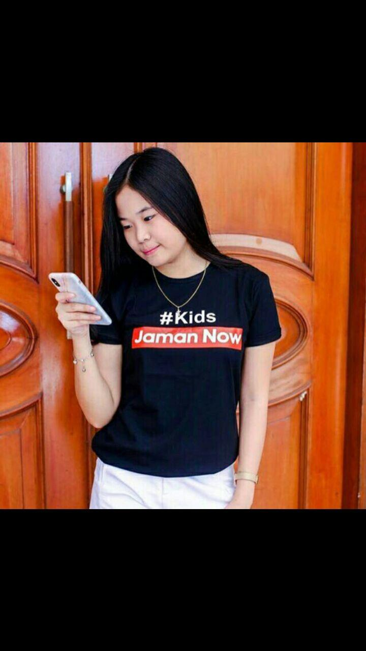 ZOEFASHION TSHIRT TEE KIDS JAMAN NOW - NAVY NO.375