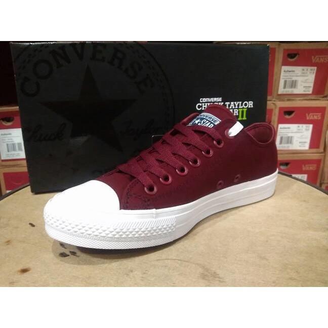 Sepatu Converse All Star Ct 2 Lunarlon Maroon Premium Original Bnib - Vvcrnd