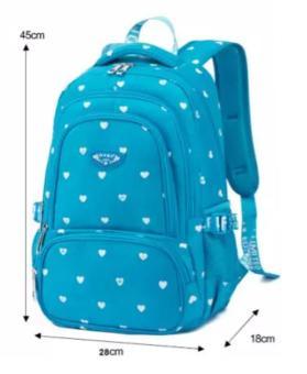 Pencari Harga Tas Ransel wanita Tas Sekolah fortune 7316 biru Original import + Waterproof Raincoat terbaik