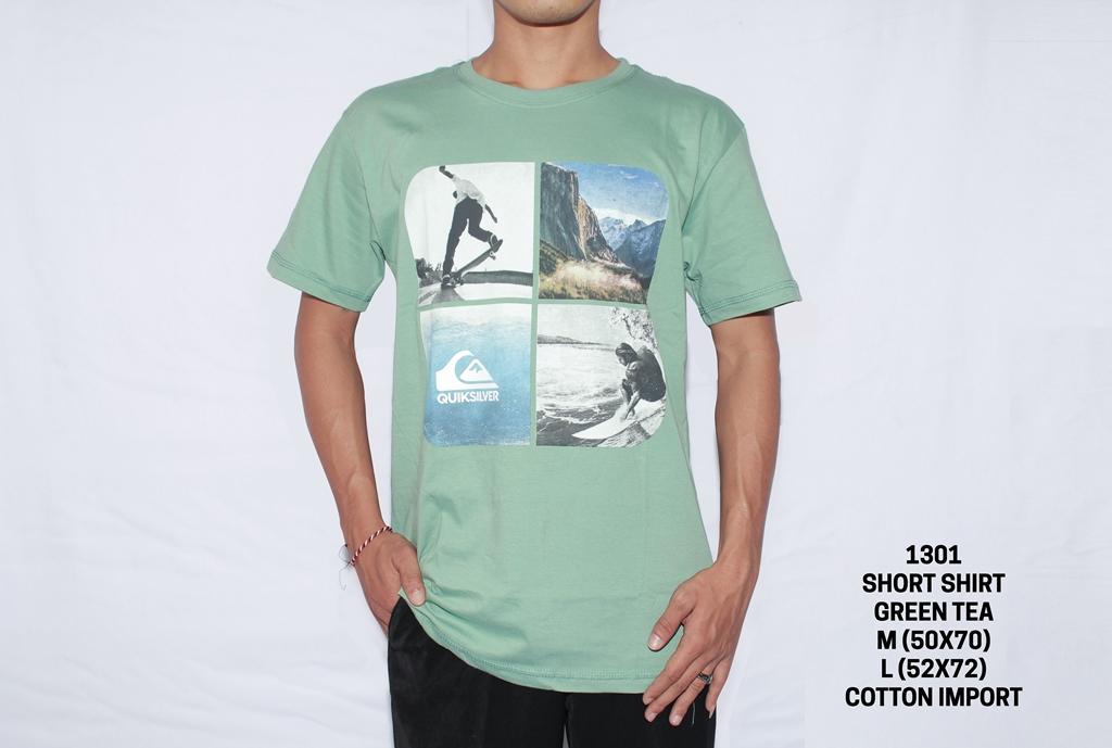 LakeMoontana 1301 Kaos Pria Lengan Pendek TShirt Pria Exclusive Baju Surfing Cowok