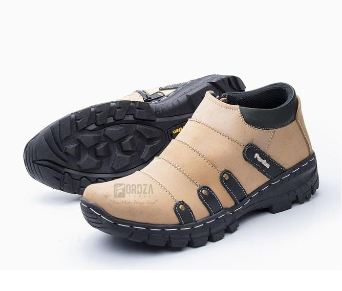 Sepatu Boots Pria Kulit Asli Pull Up Hiking Touring Fordza BKS07PU Hitam / Sepatu Snakers Casual Pria Kerja Kantor Pabrik Lapangan Murah / Sepatu Gunung Pria Boots Boot Model Terbaru Pria Cowok