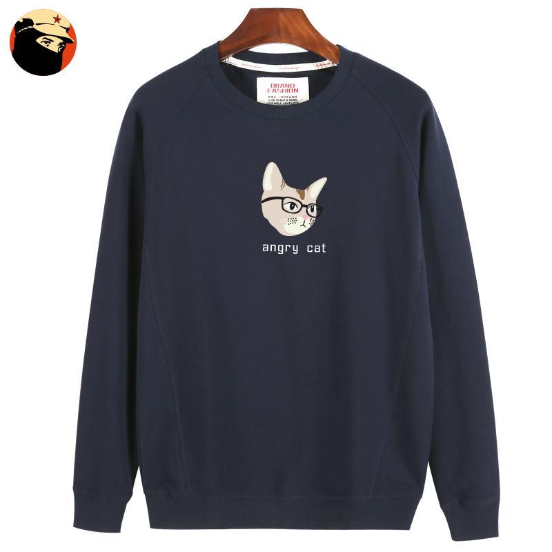 Tide merek kecil segar anak laki-laki kartun dicetak longgar kemeja pullover sweater (110
