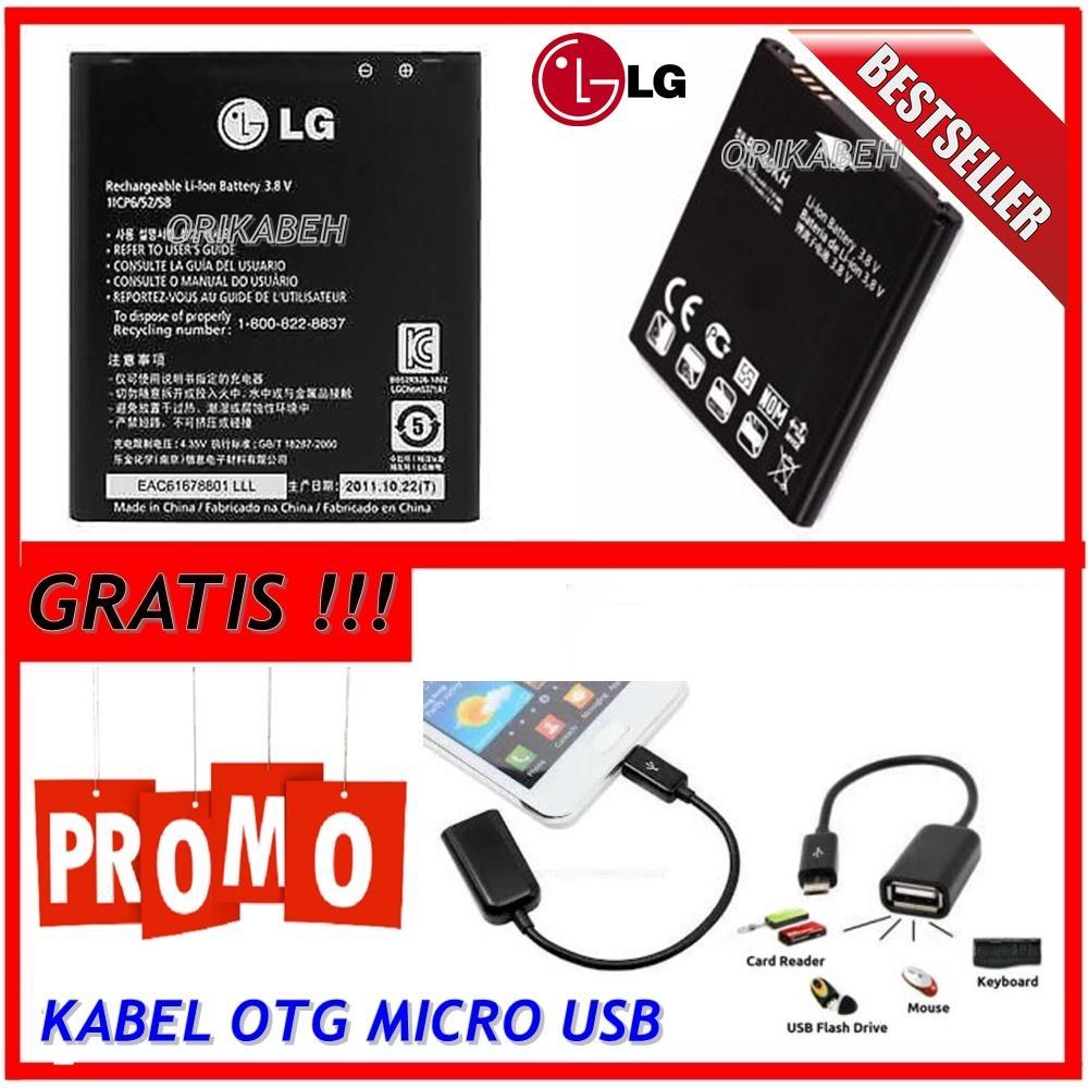 LG Baterai / Battery BL-49KH For LG Optimus LTE Original - Kapasitas 1850mAh + Gratis Kabel Otg Micro Usb ( orikabeh )