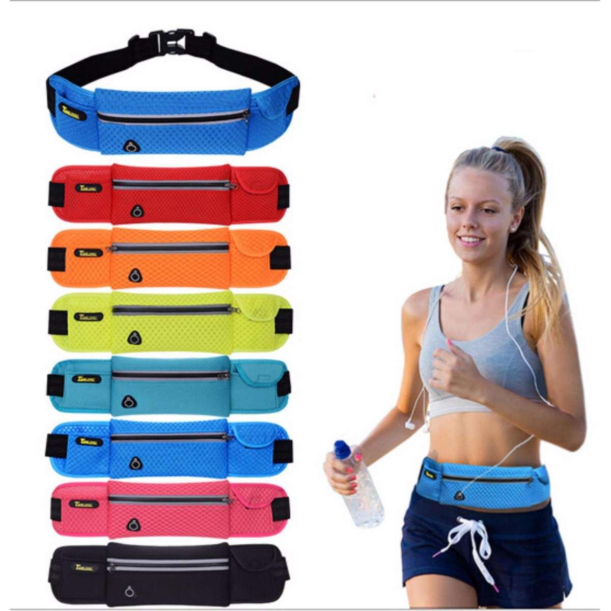 Tas Pinggang Olahraga Lari / Jogging / Gym / Fitness / Sepeda Jaring - Sports Bag Running / Bike - Waterproof Sport Belt Running - Babamu By Babamu.