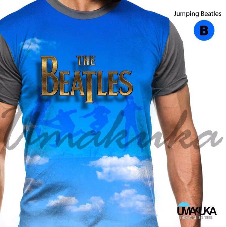 Jumping beatles kaos musik the beatles 3d umakuka fullprint