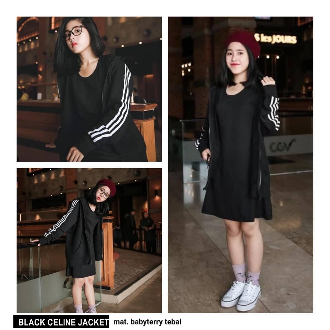 ... Baju Atasan Blouse Rajut Hijab Terbaru Kekinian Wanita Murah. Source · Rp 57.500. BLACK CELINE JAKET ||| loekita ||| grosir jaket sweater