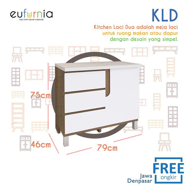 Eufurnia Olympic Kitchen Laci Dua / Lemari Dapur / KLD 0111095