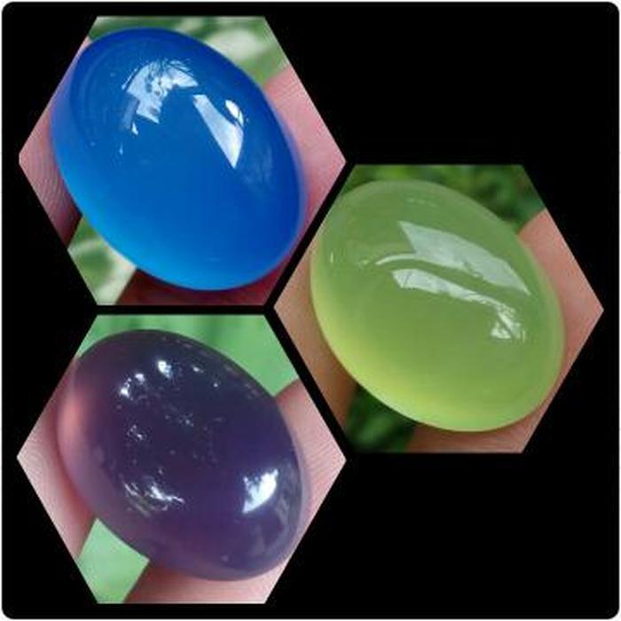 HOT PROMO!!! 3 Pcs Batu Chalcedony - Anggur Spirtus Mizone Baturaja || Lavender Bat