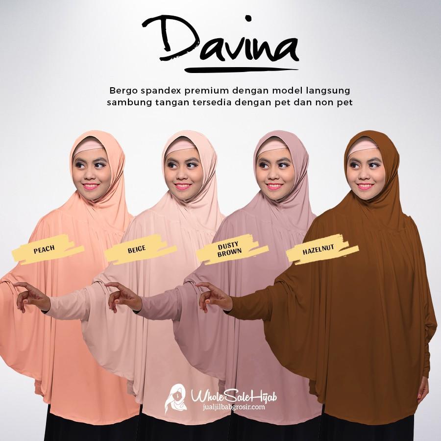 Jilbab Bergo Tangan Syari Davina / Hijab / Jilbab (NONPET)
