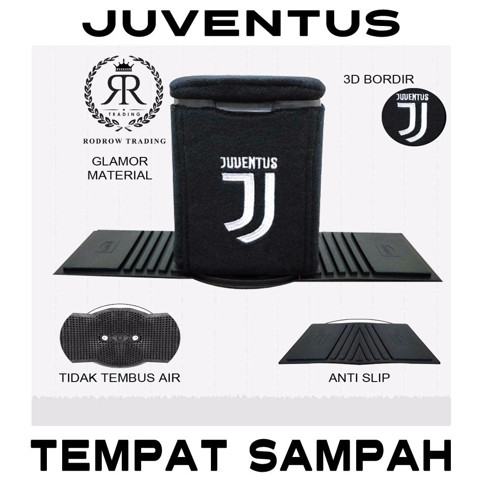 Tempat Sampah Mobil Juventus / Tong Sampah Mobil Motif Juventus / Tempat Sampah Mobil Karakter Klub Bola