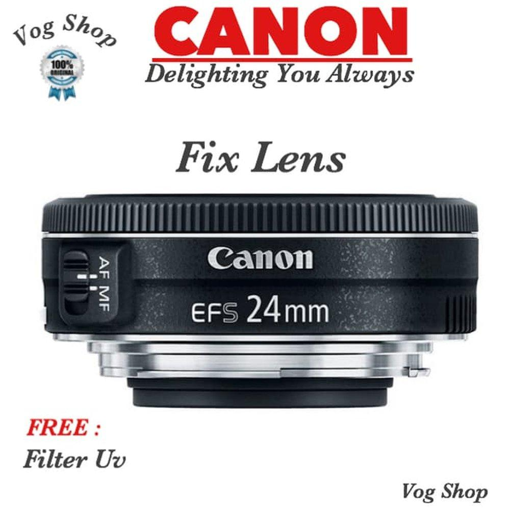 Lensa Fix Canon EFS 24MM F 2.8 STM