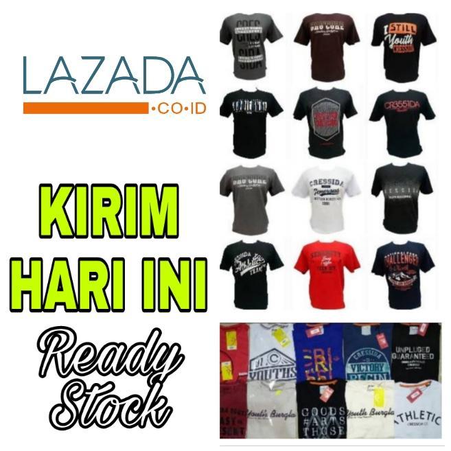 Kaos Pria Murah / T-Shirt Murah / Kaos Oblong / Baju pria / Atasan Cowok / Kaos Cressida Grosir Ter