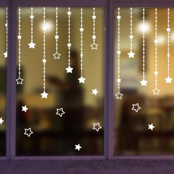 Pencarian Termurah Jendela Restoran Kopi toko kreatif Pakaian pintu kaca Pintu geser lengket sendiri Stiker Dinding