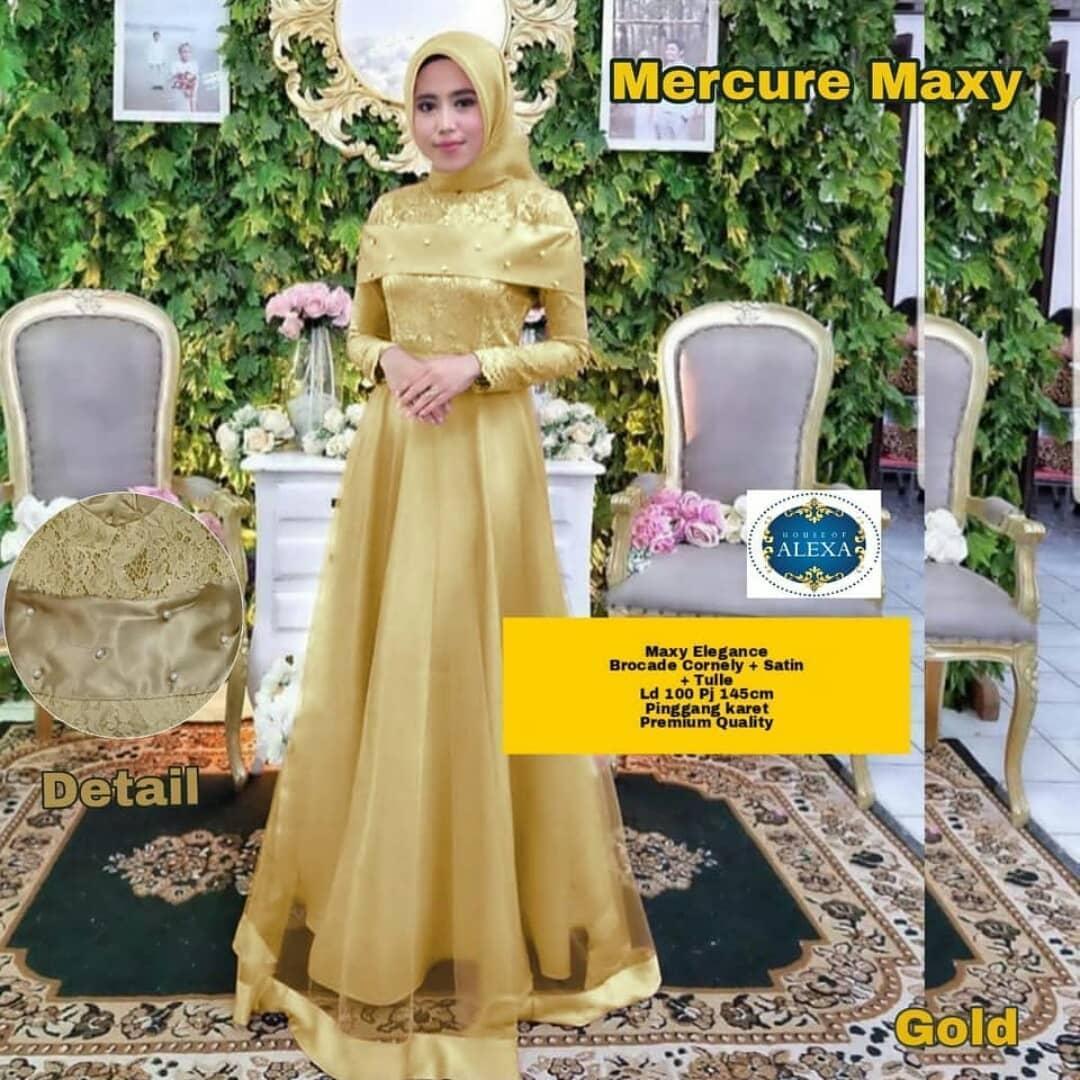 Fashion Wanita Gaya mc MERCURE MAXY Bahan Brukat Mix Tile Tutu yang Modis Modern dan elegant