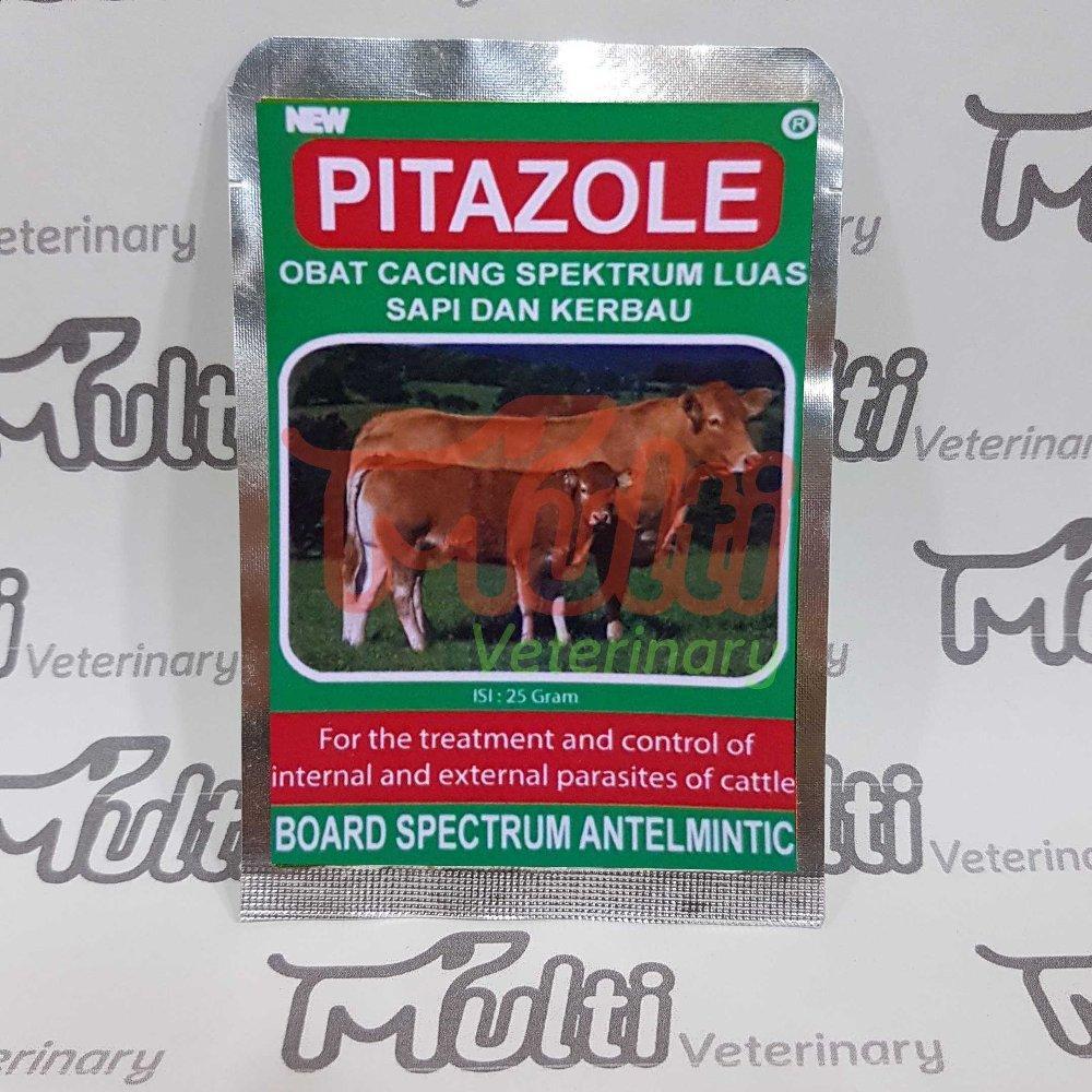 Obat Cacing Ternak Sapi Kerbau - Pitazole - Spektrum Luas Pita By Multi Veterinary.