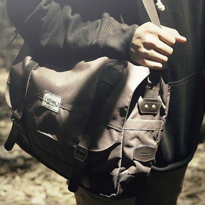 Tas Kerja Kuliah Selempang Laptop Pria Massive Sling Bag Branded Murah