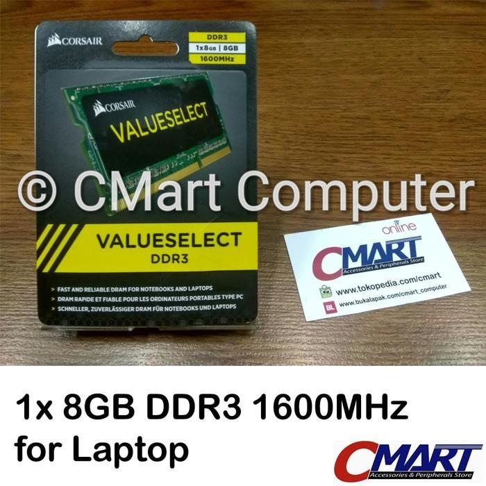 ORIGINAL - Corsair 8GB DDR3 1600 MHz SODIMM Memory RAM Laptop CMSO8GX3M1A1600C11