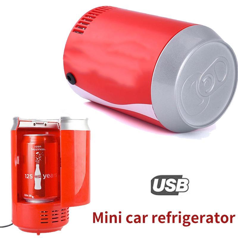 GoGoStore DC5V Mini Car Auto Coca Botol Coke Bisa Kulkas Kulkas Cooler Cooling-Intl