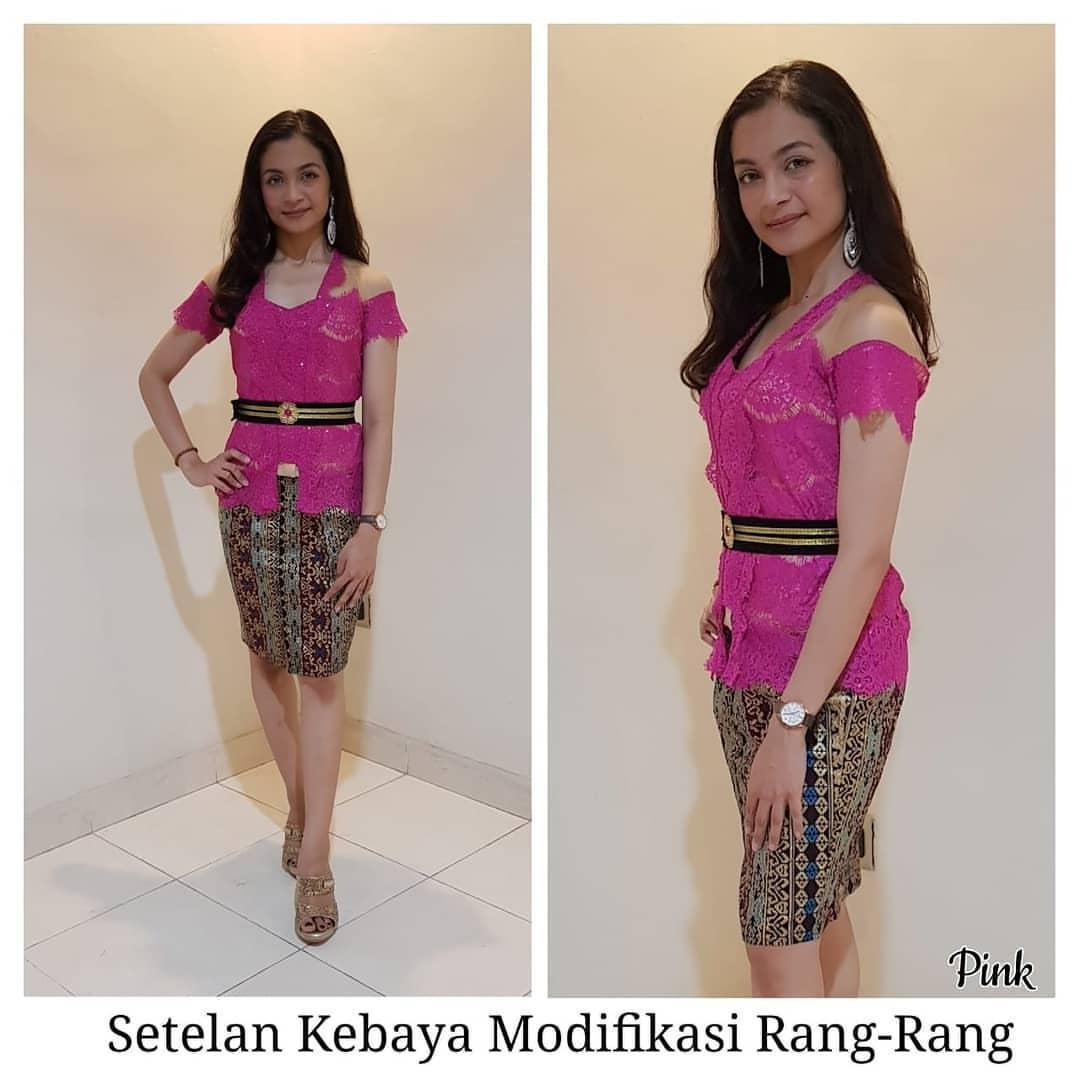 sixmo – SET kebaya jadi modifikasi rang rang dan rok batik katun pendek kebaya bali murah kebaya modern kebaya pesta