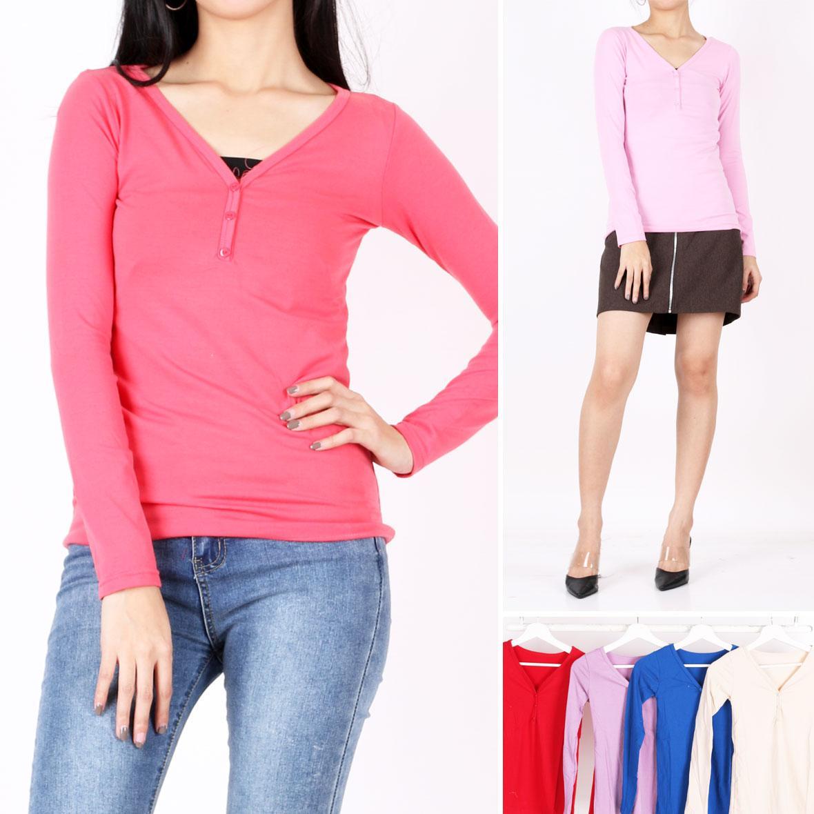 Oma Holley Fashion Khalida T-Shirt Long Sleeve 5 Warna-Size M