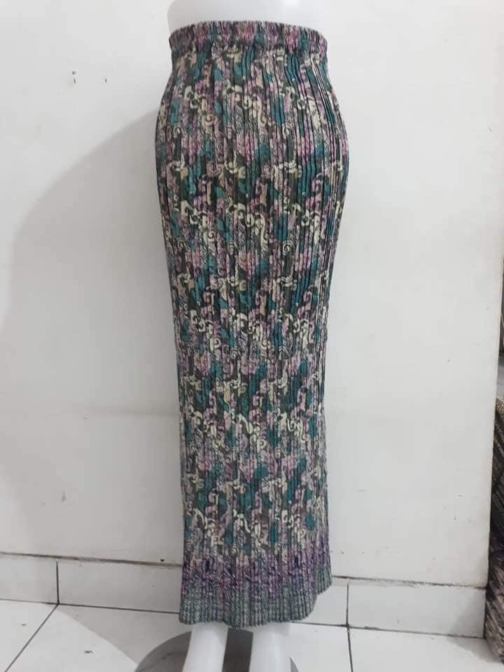 Rok Plisket Span / Maxi Skirt / Rok Panjang Prisket / kebaya / bawahan kebaya