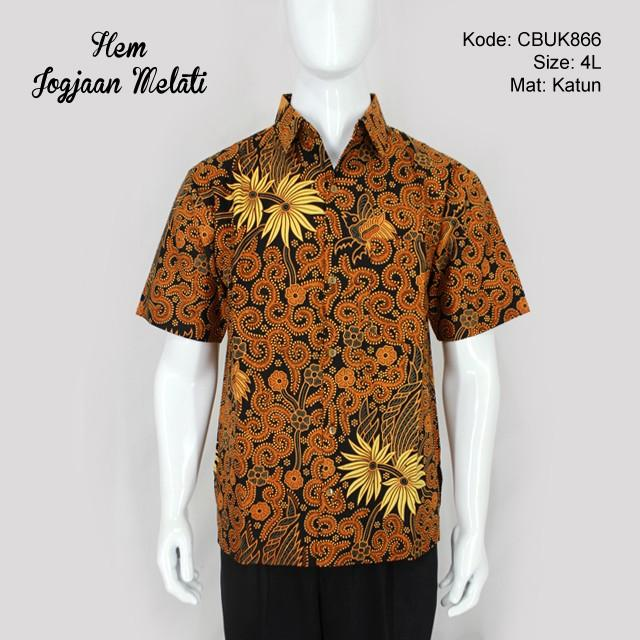 Mila Style Baju Kemeja Hem Batik Varian Prabu Ageng Jumbo XXL - Multicolor