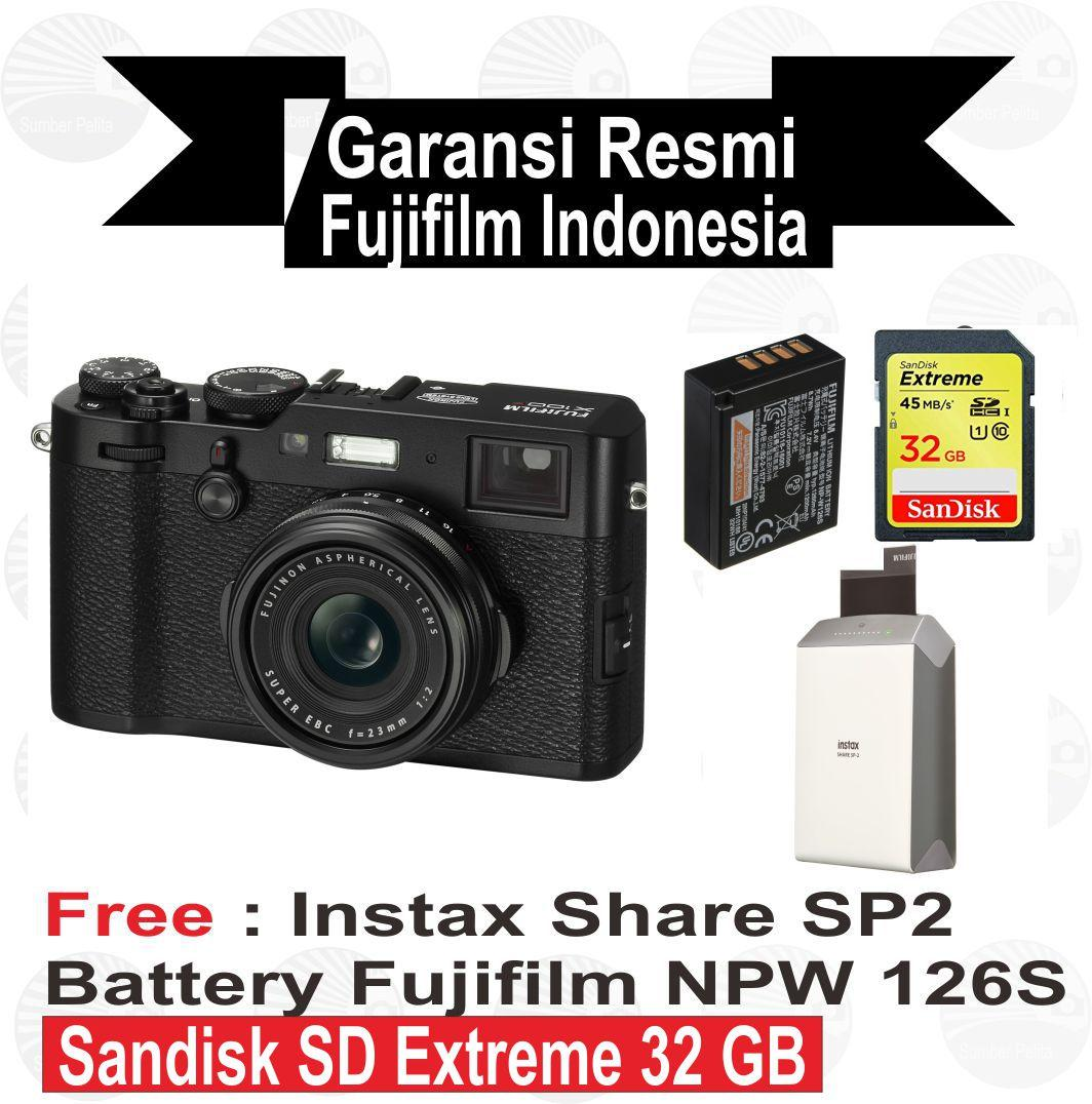 Buy Sell Cheapest Fujifilm X100f Tele Best Quality Product Deals X A5 Free Instax Share Sp 2 Silver Sdhc 16 Gb Tas Leather Brown 100f Kamera Mirrorless Resmi Indonesia