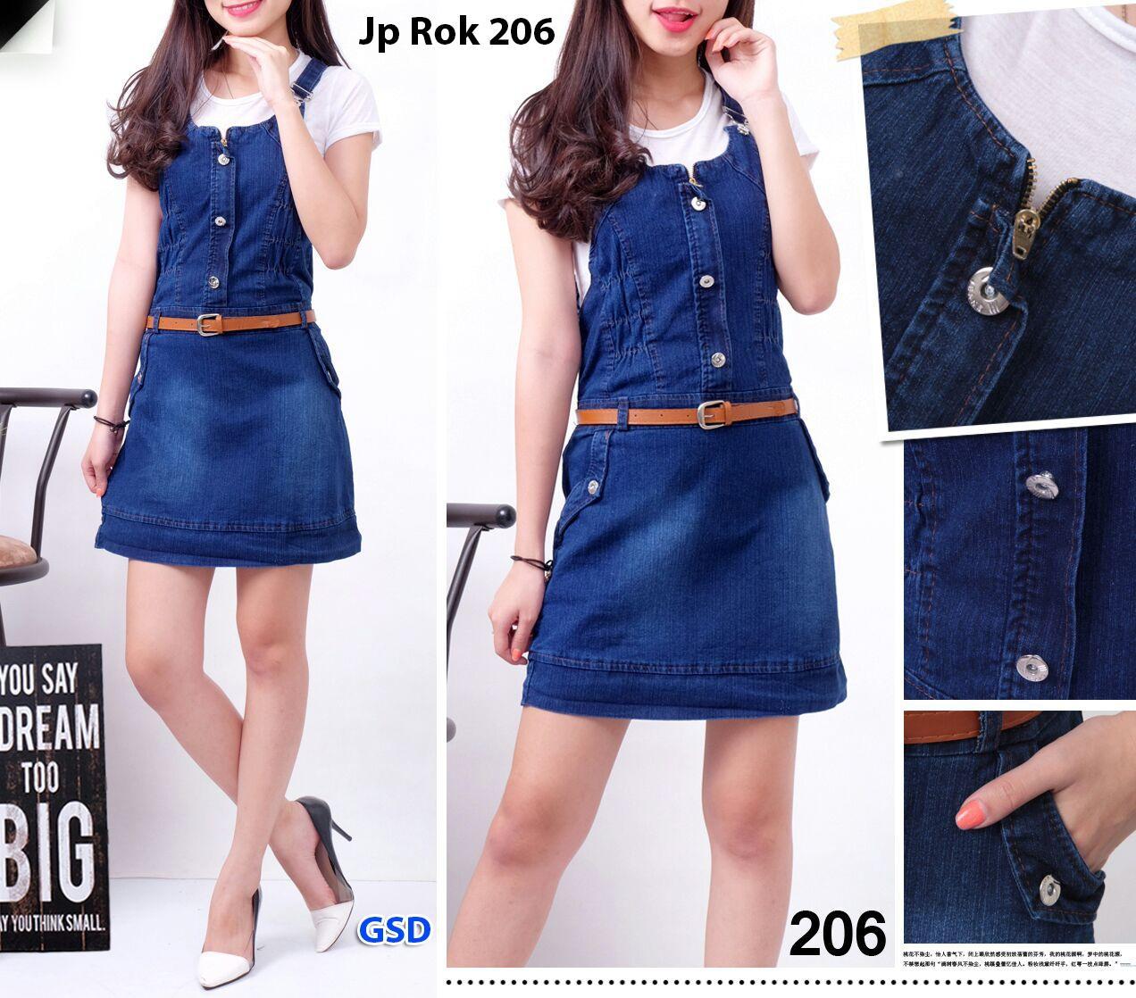 GSD - Dress Jeans Wanita / Baju Jeans Wanita / Baju Kodok Wanita - Rok Jeans 201
