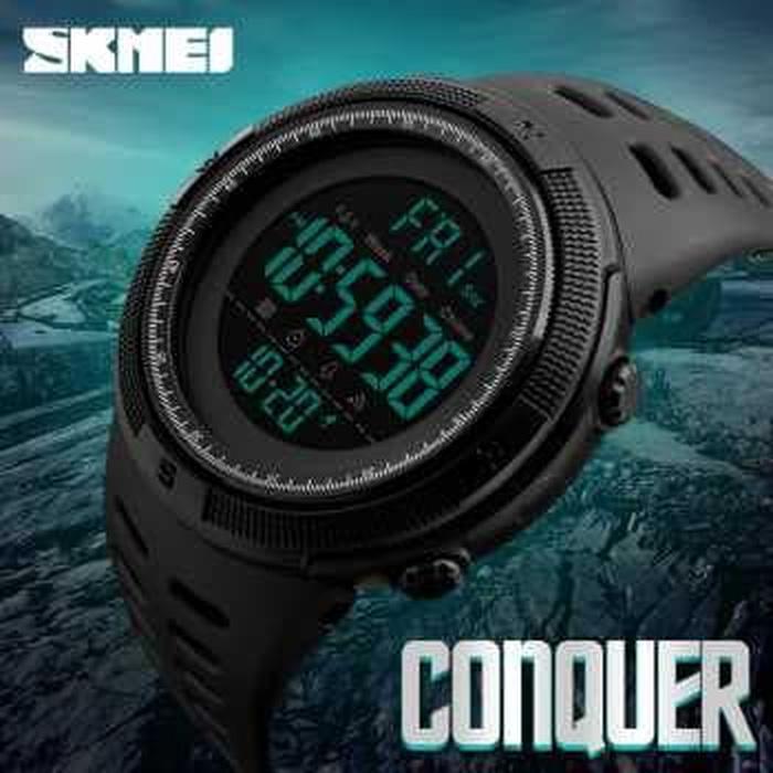 BEST SELLER!!! Skmei Jam Tangan Digital Pria Sport Outdoor 1251 - Suuntoo Eiger - Full Hitam