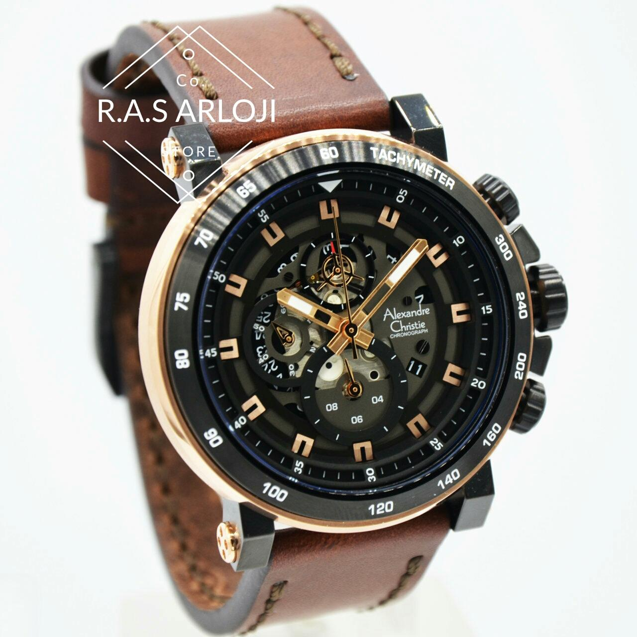 Alexandre Christie Ac6410mck Jam Tangan Pria Strap Leather Coklat Ac6439mc Chronograph Silver Steel Hot Deals Source Rosegold Ac6429 Chrono