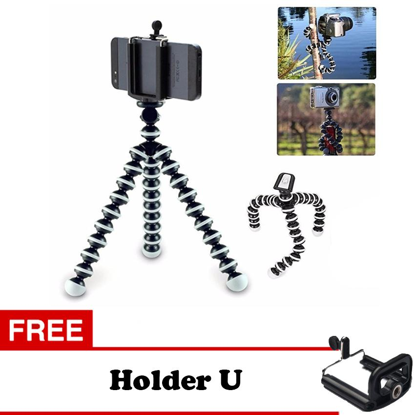 Gorillapod S Tripod Gorilla Pod With Holder For Smartphone Up To 5,5 - Putih
