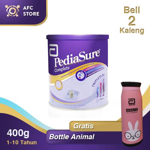 Pediasure Triplesure Complete Vanilla - 400gr 2 Kaleng + Free Bottle Animal