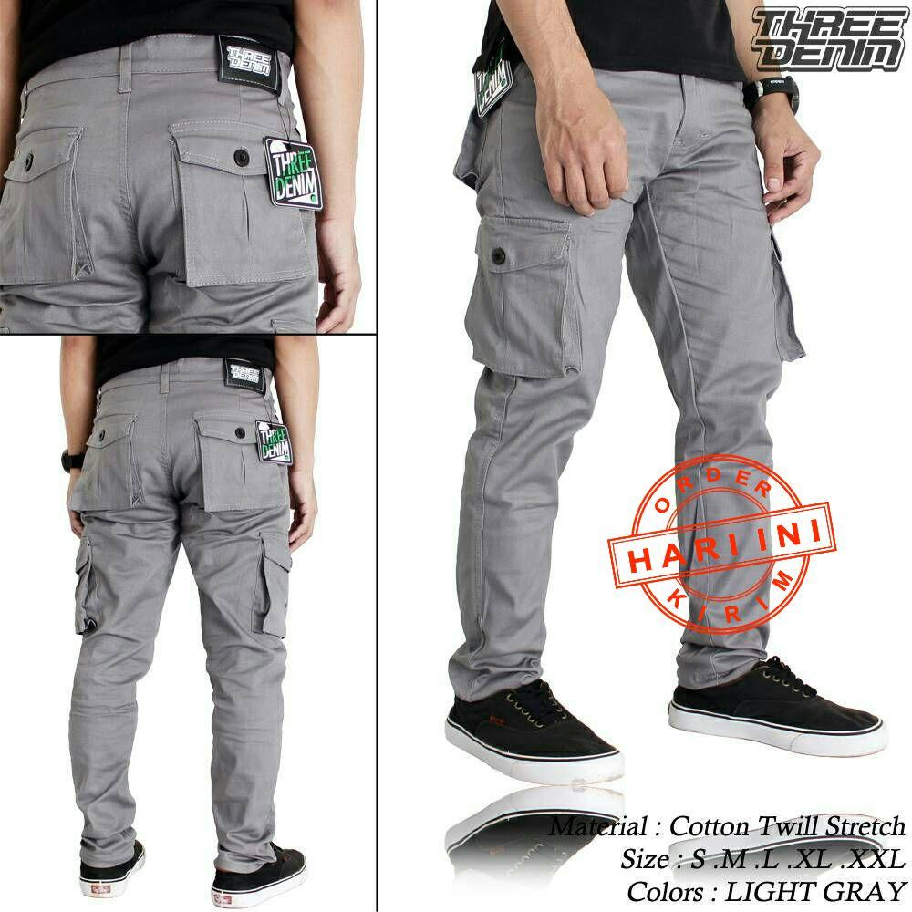Celana Panjang Pendek Pria Jeans Street Premium Cargo Pdl Gunung